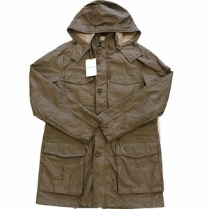 Cole Haan Green Packable Cargo Utility Parka Coat